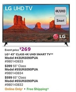 "LG 65"" 4K UHD Smart TV"