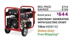 Gentron Generator w/ Electric Start
