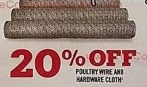 Poultry Wire And Hardware Cloth