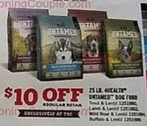 4health Untamed Dog Food  25 lb. Bag