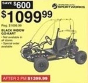 Sport Works Black Widow Go-Kart