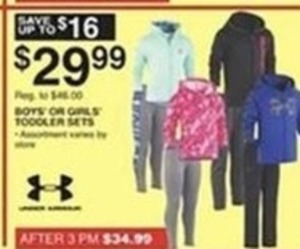 Under Armour Boys' or Girls' Toddler Sets