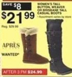 Apres or Wanted Women's Tall Casual Boots