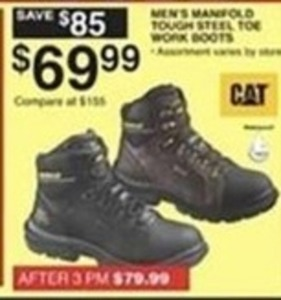 Cat Men's Manfold Tough Steel Toe Work Boots