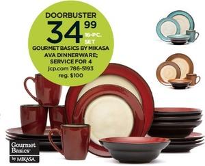 Gourmet Basics by Mikasa Ava 16-Pc. Dinnerware Set