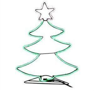 "24""  Green Neon Flex Tree"