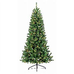 Pre-Lit LED Artificial Christmas Tree, Color-Changing, 7-Ft.