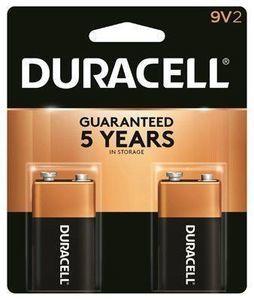 Duracell Alkaline Batteries, 9V, 2-Pk.