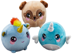 "Squeezamals Select 8"" Squeezamals Plush Characters"