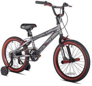 """Kent 18"""" Abyss FS18 Boys' BMX Bike, Silver"""