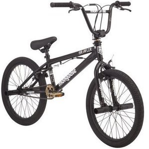 "20"" Mongoose BRAWLER Freestyle Boys' BMX Bike, Black"
