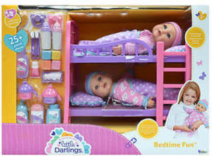 Little Darlings Bedtime Fun Doll Set Little Darlings Bedtime Fun Twin Pack Dolls w/ Bunk