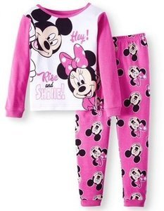 Cotton Tight Fit Pajamas, 2-piece Set (Toddler Girls)