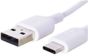 Onn USB Type-C to USB Type-A Cable, 3 Feet, White