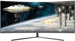 """Viotek GN34C 34"""" 1800R curved monitor, 3440x1440 21:9, 100Hz, Dual Link DVI, HDMI, DPI, AMD FreeSync"""
