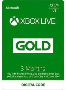 Xbox LIVE 3 Month Gold Membership US (Digital Code)