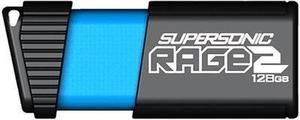 Patriot Memory 128GB Supersonic Rage 2 USB 3.1 Flash Drive, Speed Up to 400MB/s Read, 200MB/s Write, Durable Rubber Housing